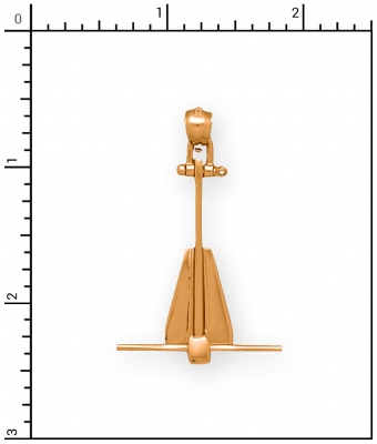 14Kt Medium Movable Danforth Anchor