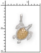 14Kt./Sterling Silver Sea Turtle Charm
