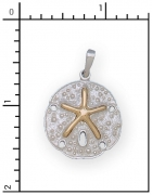 14Kt./Sterling Silver Sand Dollar Charm