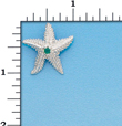 Sterling Silver Starfish Charm with Emeral Stone