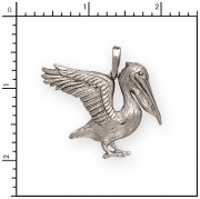 Sterling Silver Pelican Charm