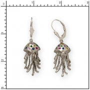 Sterling Silver Jellyfish Earrings