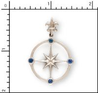 Sterling Silver Compass Rose