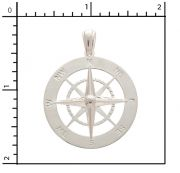 Sterling Silver Lg. Compass Rose Charm