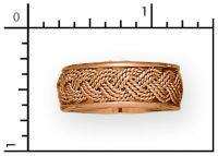 14Kt 3-Strand, 8mm, Yellow Gold Turks Head Band